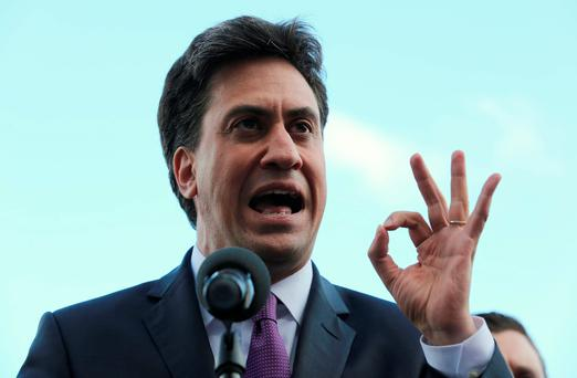 "Mr Miliband, pictured yesterday, has repeatedly said he is not ""measuring the curtains"" for Downing Street when asked about his plans (Chris Radburn/PA Wire)"