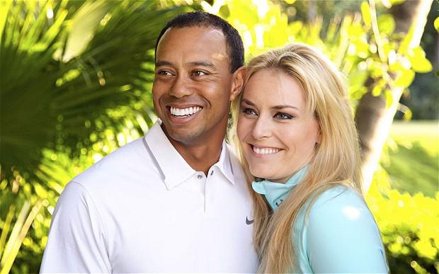Tiger Woods and Lindsey Vonn Photo: AP