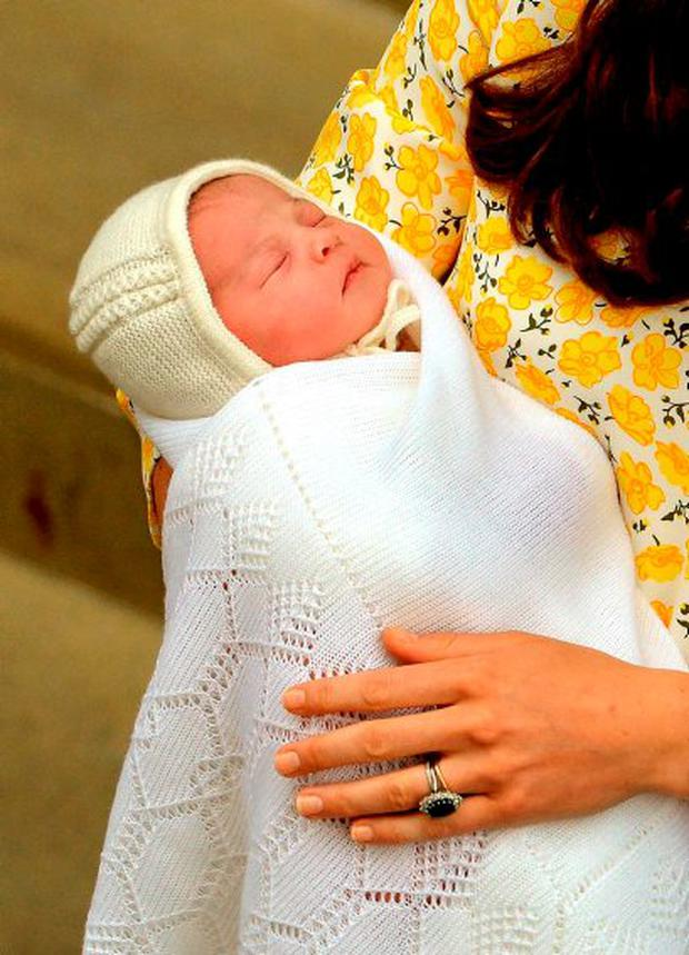 The Duke and Duchess of Cambridge have called their new baby daughter Charlotte Elizabeth Diana. Photo: PA