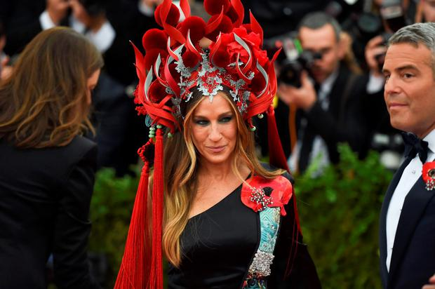 Sarah Jessica Parker arrives at the Costume Institute Gala Benefit at The Metropolitan Museum of Art May 5, 2015 in New York. AFP PHOTO / TIMOTHY A. CLARYTIMOTHY A. CLARY/AFP/Getty Images
