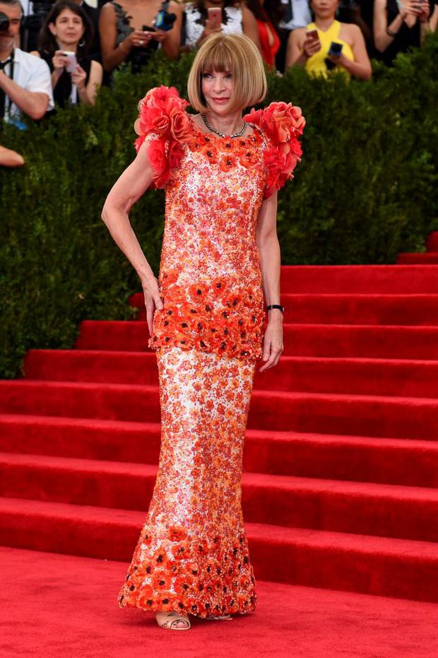 Anna Wintour in Chanel Couture at Met Ball 2015