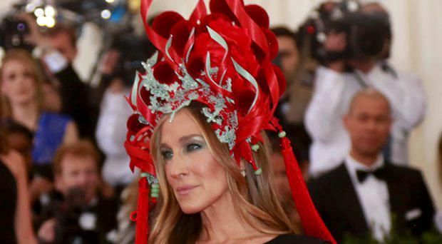 Actress Sarah Jessica Parker arrives for the Metropolitan Museum of Art Costume Institute Gala 2015 celebrating the opening of