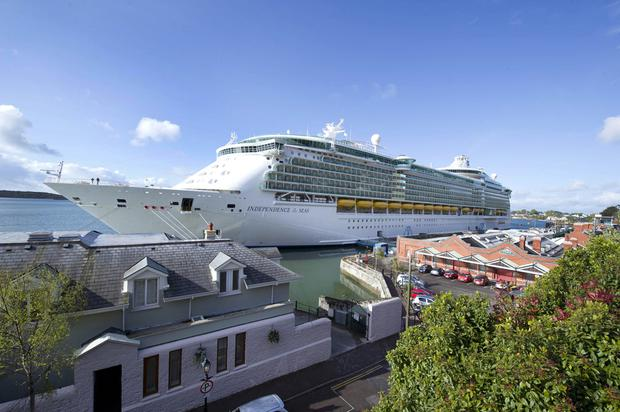 Royal Caribbean's Independence of the Seas ship created a spectacle when it called into Cobh over the May Bank Holiday weekend in 2012. MSC's Splendida is even larger.