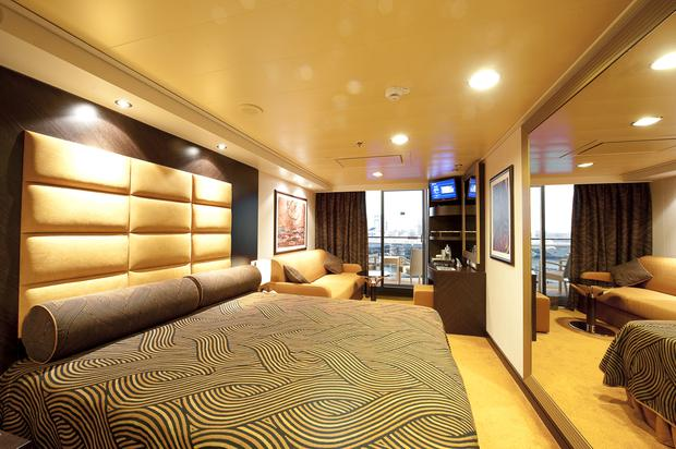 A cabin on board MSC Splendida.