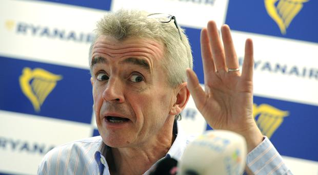 Michael O'Leary, Ryanair's Chief executive, speaks during a press conference in Bratislava this February. Photo: SAMUEL KUBANI/AFP/Getty Images