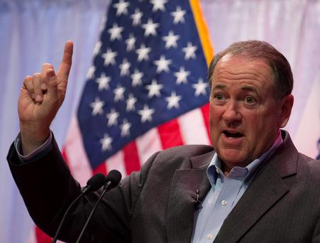 Former Republican Arkansas Governor Mike Huckabee Credit: Jim Young