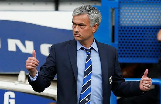 Mourinho's £8.5 million-a-year contract, signed on his return as manager at Stamford Bridge in 2013, has two years remaining and Chelsea are poised to extend that by a further two years, together with a wage rise (Reuters / John Sibley)