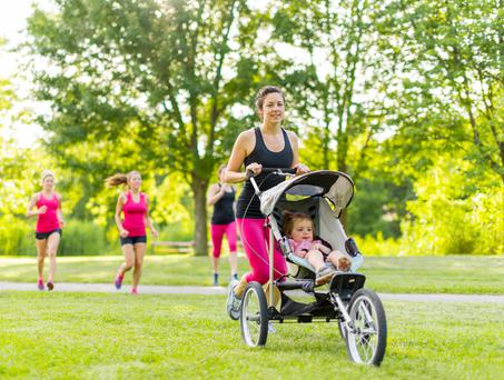 It's great for your mind and body to get back to exercise after having a new baby.