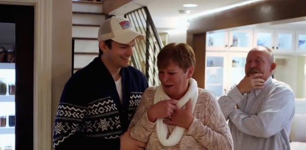 Ashton Kutcher surprises mom Diane by renovating her house for Mothers Day. Picture: Houzz.com