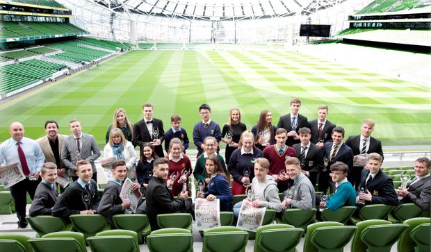 All the award winners at the Herald School Sports Awards at the Aviva Stadium