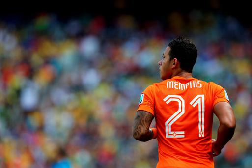 Liverpool manager Brendan Rodgers says Liverpool were not interested in signing PSV Eindhoven's to Memphis Depay.