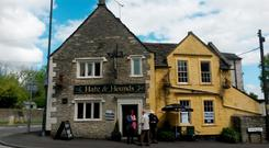 The Hare and Hounds in the Wiltshire village of Corsham has been a polling station since 2010. Photo: Claire Hayhurst/PA Wire