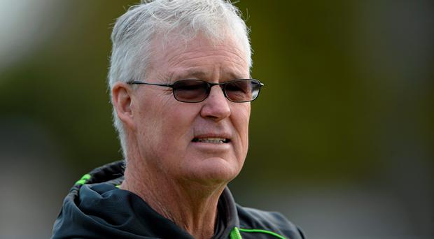 Newly appointed Ireland head coach John Bracewell during squad training. Malahide Cricket Ground, Malahide, Co. Dublin. Picture credit: Brendan Moran / SPORTSFILE