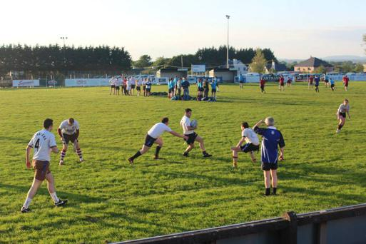 A tag rugby match in progress at Corinthians