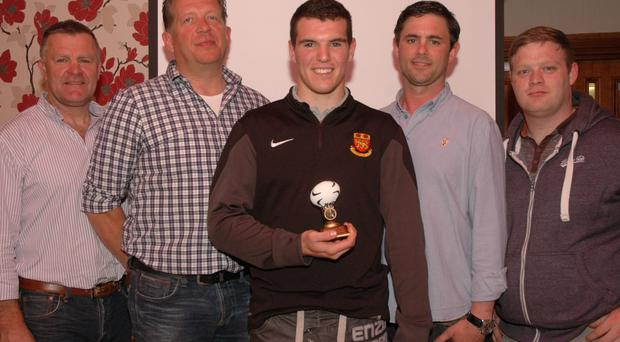 David Henshaw, Craig Milling, Thomas McGann, Under 17s player of the year Paul Byrne