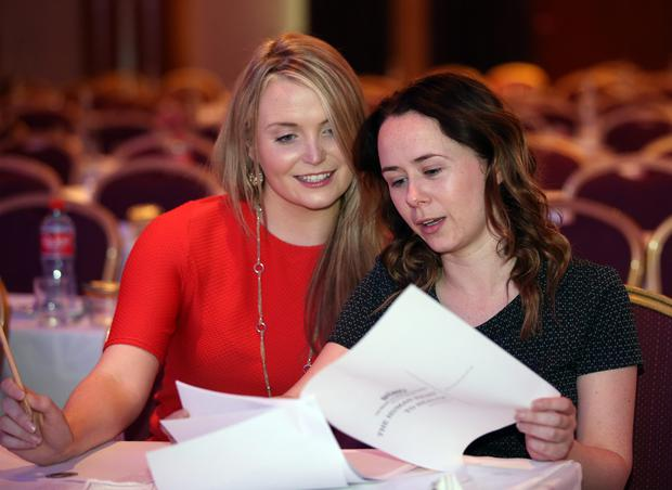Ruth Kelly from Galway and Lisa O'Boyle from Roscommon, both members of the INMO Youth Forum. Photo: Frank McGrath
