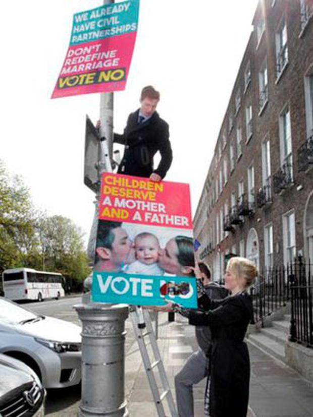 The controversial 'No' campaign poster