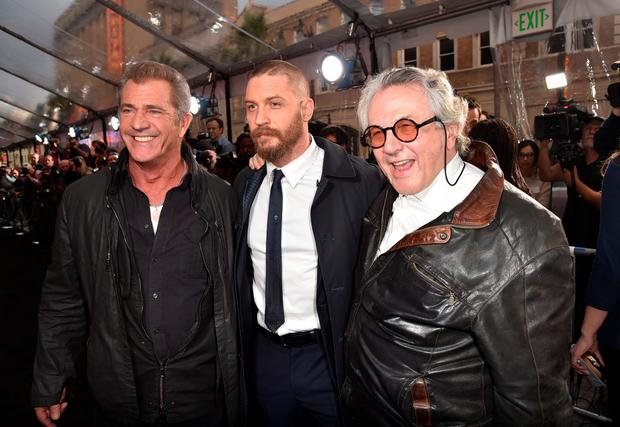 Actors Mel Gibson, Tom Hardy and Writer/Director/Producer George Miller