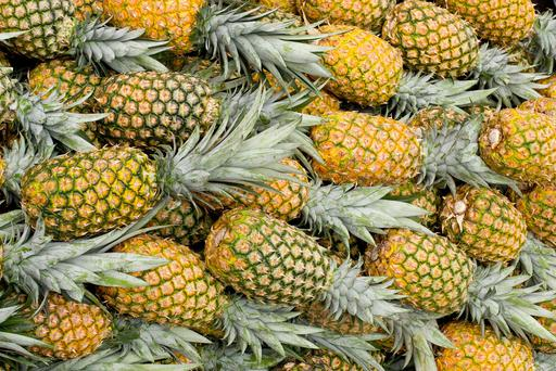 Fresh pineapples are rich in bromelain, an enzyme which helps to break down mucus
