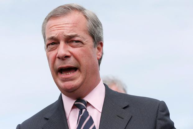 Nigel Farage resigns as leader of the United Kingdom Independence Party (UKIP) after failing to secure a seat in parliament during a news conference in Broadstairs, on the south coast of Britain, May 8, 2015. REUTERS/Suzanne Plunkett