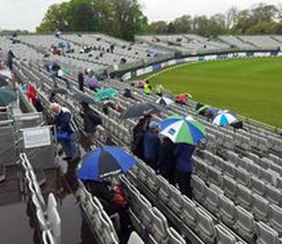 Rain halted play in the one-day international between Ireland and England at Malahide