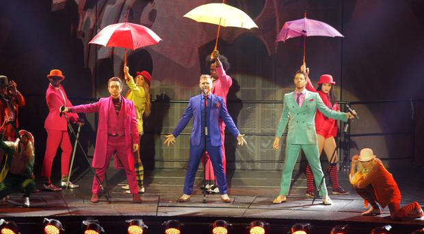 Take that pictured performing at the 3 arena in Dublin Pic Stephen Collins/Collins Photos