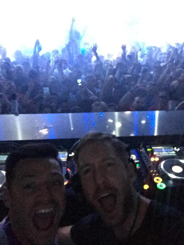 Mark Wright with Calvin Harris in Las Vegas