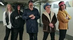 Bono and the band performed in a subway in disguise for The Tonight Show with Jimmy Fallon