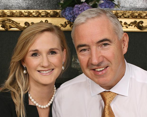 'PERVERSE': Gayle Killilea Dunne, pictured with her husband Sean Dunne, claims she is being pursued for the same assets in court actions taken in both Ireland and the US