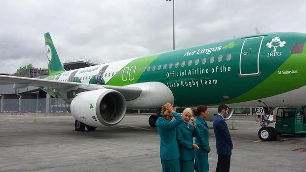 The Airbus A320, called 'Green Spirit', with the new livery