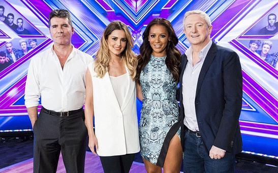 The X Factor judges in 2014