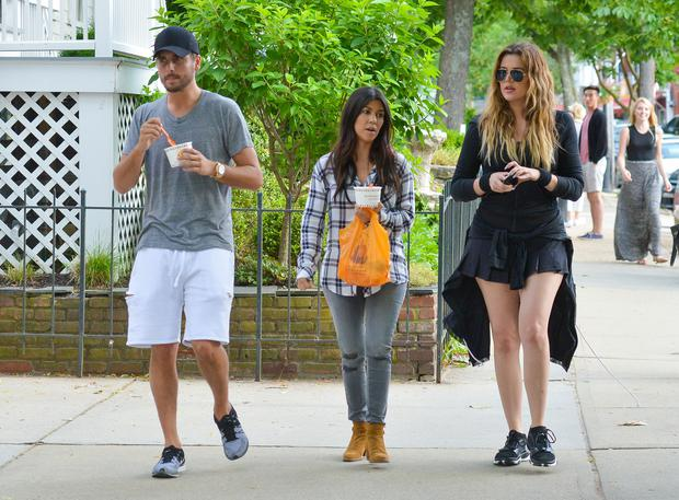 Kourtney Kardashian, Khloe Kardashian and Scott Disick