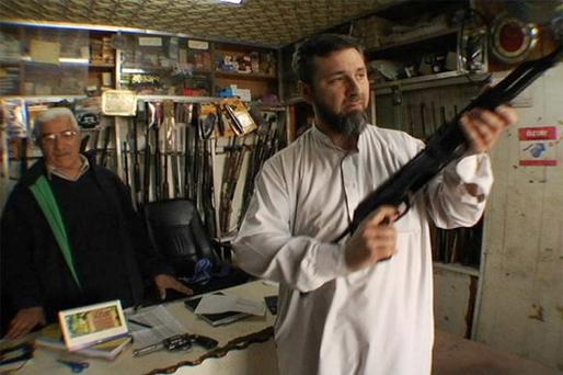 Khalid Kelly as seen in the US documentary film 'Holy Wars' Credit: Stephen Marshall