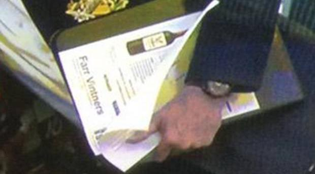 Louis van Gaal was spotted with a 'wine leaflet' in Selhurst Park