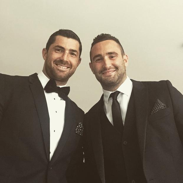Rob Kearney shared a photo of himself and Dave at the Leinster Ball.