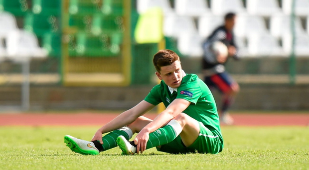 Darragh Leahy, Republic of Ireland, after the game. UEFA U17 Championship Finals, Group D, Republic of Ireland v Italy. Stara Zagora, Bulgaria. Picture credit: Pat Murphy / SPORTSFILE