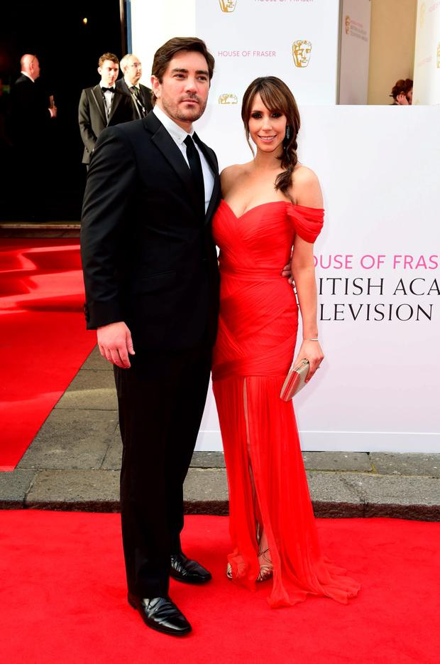 Charlie Thompson (left) and Alex Jones arrive for the House of Fraser British Academy of Television Awards at the Theatre Royal, Drury Lane in London. Photo: Ian West/PA Wire