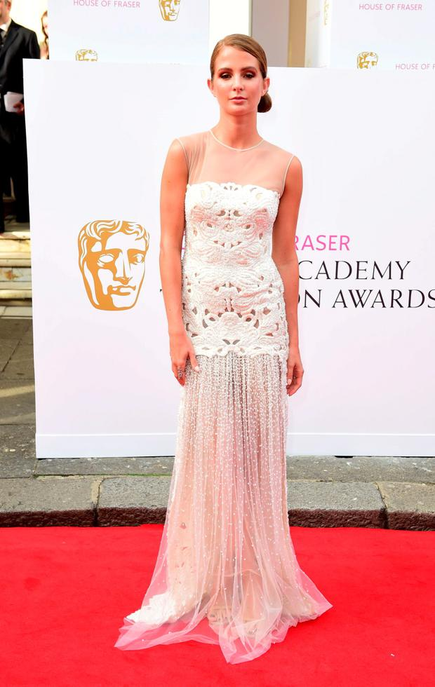 Millie Mackintosh arrives for the House of Fraser British Academy of Television Awards at the Theatre Royal, Drury Lane in London. PRESS ASSOCIATION Photo. Picture date: Sunday May 10, 2015. See PA story SHOWBIZ Bafta. Photo credit should read: Ian West/PA Wire