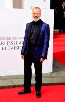 Contented: Graham Norton arrives for the House of Fraser British Academy of Television Awards at the Theatre Royal, Drury Lane in London. Photo: Ian West/PA Wire