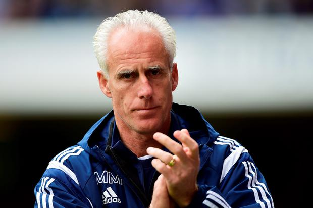 IPSWICH, ENGLAND - MAY 09: Mick McCarthy, manager of Ipswich looks on during the Sky Bet Championship Playoff semi-final first leg match between Ipswich Town and Norwich Cityat Portman Road on May 9, 2015 in Ipswich, England. (Photo by Jamie McDonald/Getty Images)