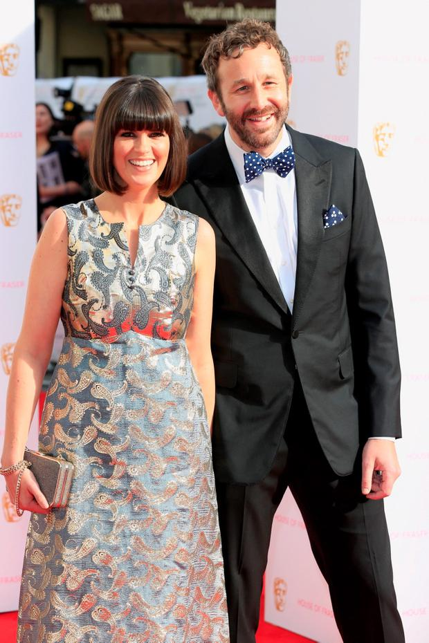 Dawn Porter and Chris O'Dowd attend the House of Fraser British Academy Television Awards at Theatre Royal in London, England. (Photo by John Phillips/Getty Images)
