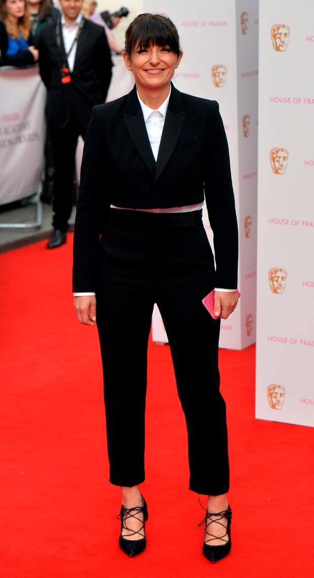 Davina McCall arrives for the House of Fraser British Academy of Television Awards at the Theatre Royal, Drury Lane in London