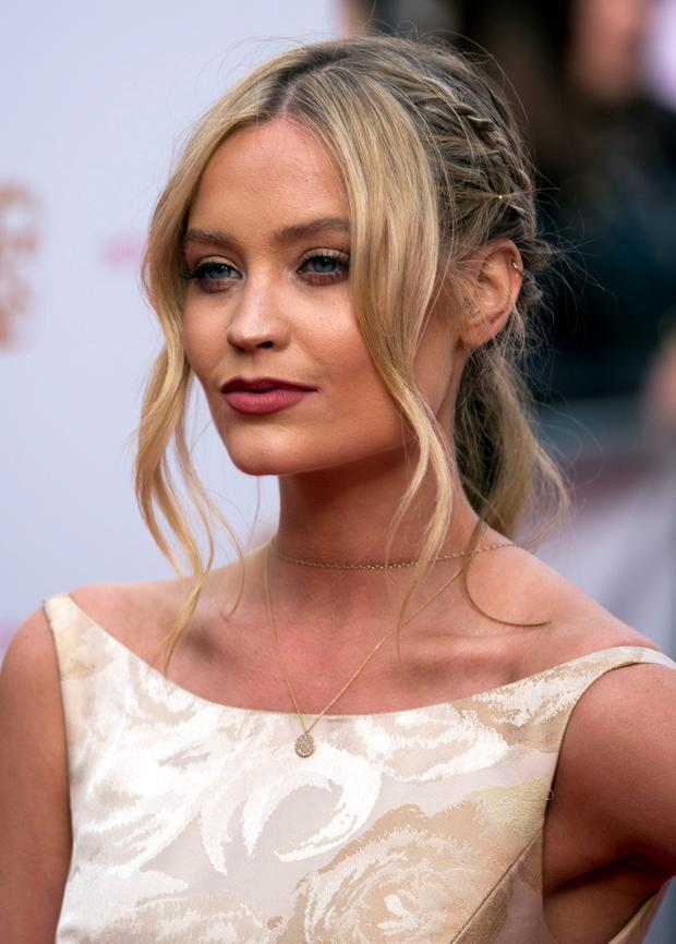 Laura Whitmore arrives for the House of Fraser British Academy of Television Awards at the Theatre Royal, Drury Lane in London. Photo: Hannah McKay/PA Wire