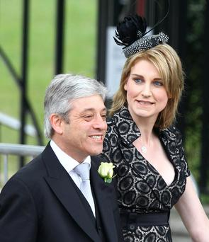 Troubled: John Bercow and his wife Sally