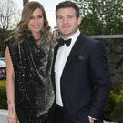Aoife Cogan and Gordon D'Arcy at the Leinster Ball. Picture: Mark Doyle