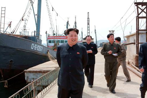 North Korean leader Kim Jong Un at the Sinpho Pelagic Fishery Complex, in this undated photo released by North Korea's Korean Central News Agency (KCNA) in Pyongyang on May 9. Reuters/KCNA