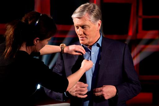 Pat Kenny on In The Round. Picture: Barry McCall/UTV