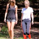 Taylor Swift and Gigi Hadid are seen in Los Angeles on May 10, 2015 in Los Angeles, California. (Photo by Bauer-Griffin/GC Images)