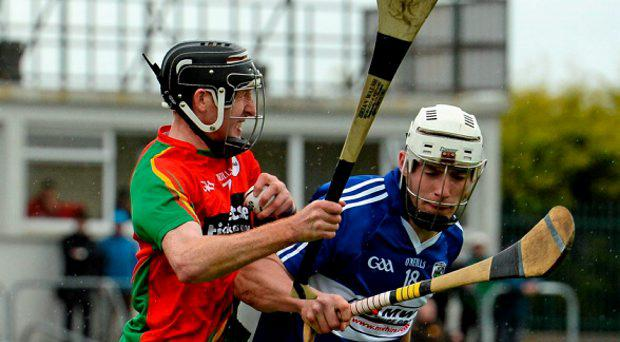 Edward Coady, Carlow, in action against Ben Conroy