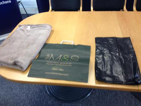 Primark blanket, M&S bag, and bin liner similar to ones found with abandoned baby from Friday